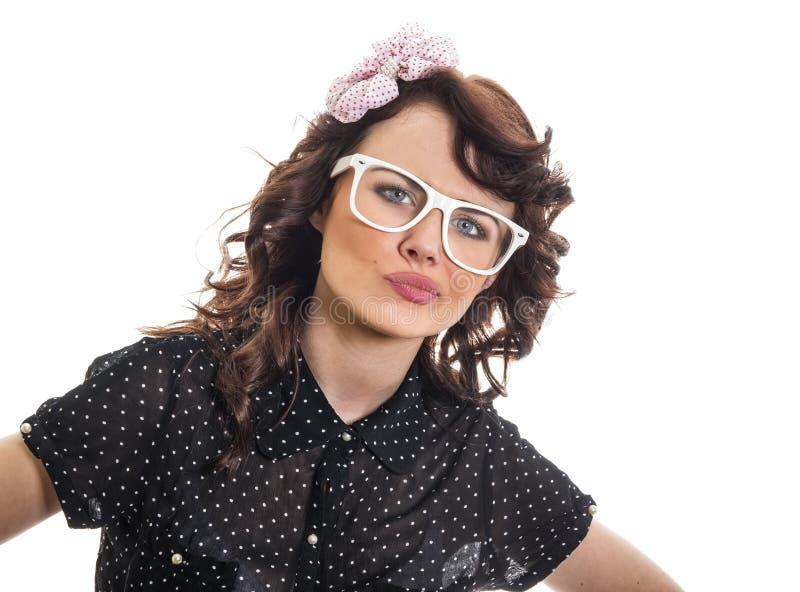 Jonge Trendy Vrouw stock foto