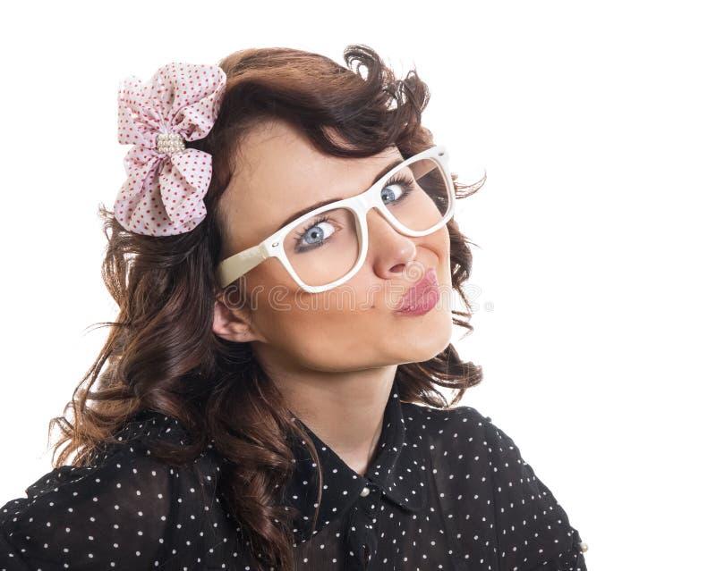 Jonge Trendy Vrouw royalty-vrije stock fotografie