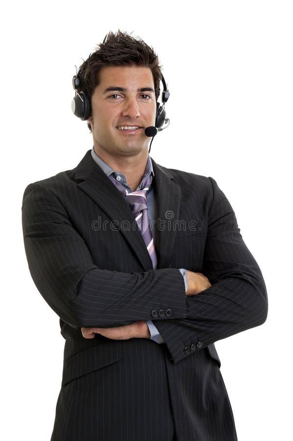 Jonge verkoper stock afbeelding