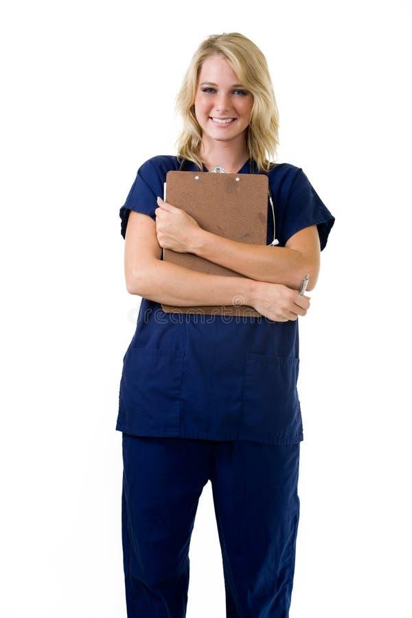 Jonge verpleegster stock afbeelding