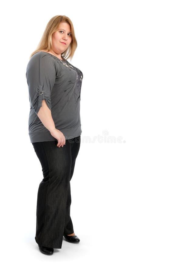 Jonge vette vrouw stock afbeelding