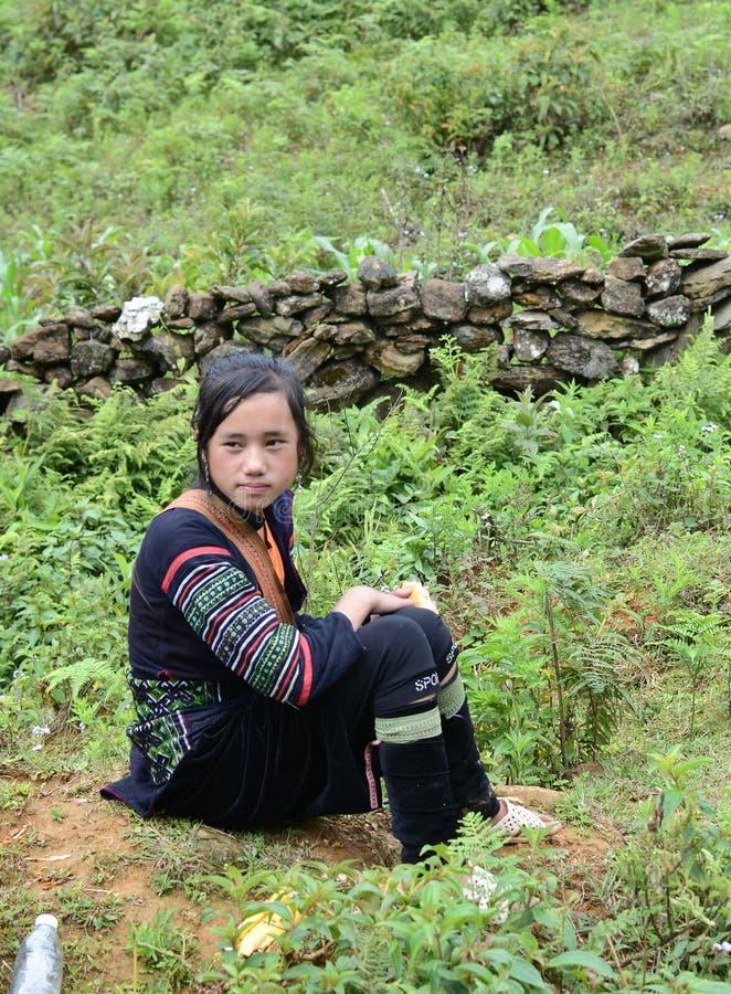 Jonge Vietnamese minderheidsvrouw stock afbeeldingen
