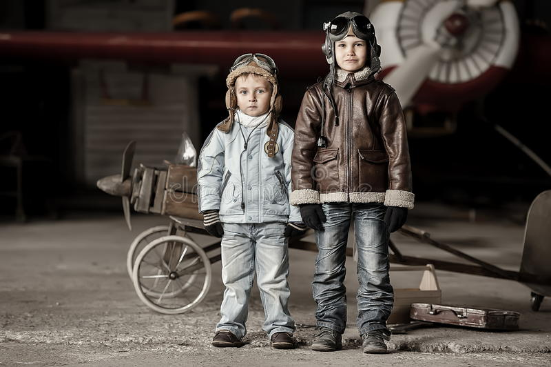 Jonge vliegeniers royalty-vrije stock afbeelding