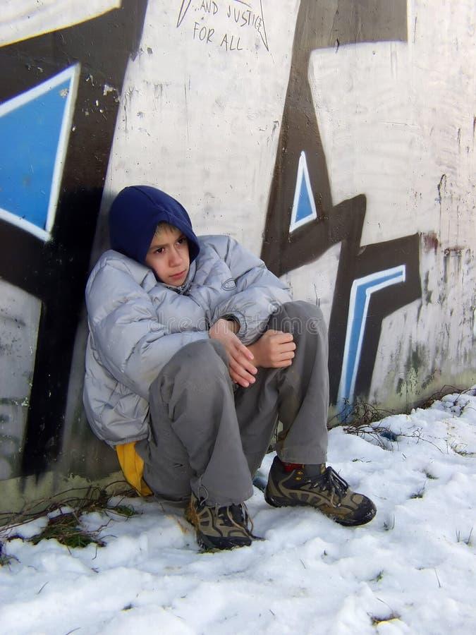 Jonge vluchteling 2 royalty-vrije stock afbeelding
