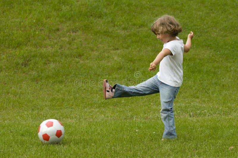 Jonge voetballer royalty-vrije stock afbeelding