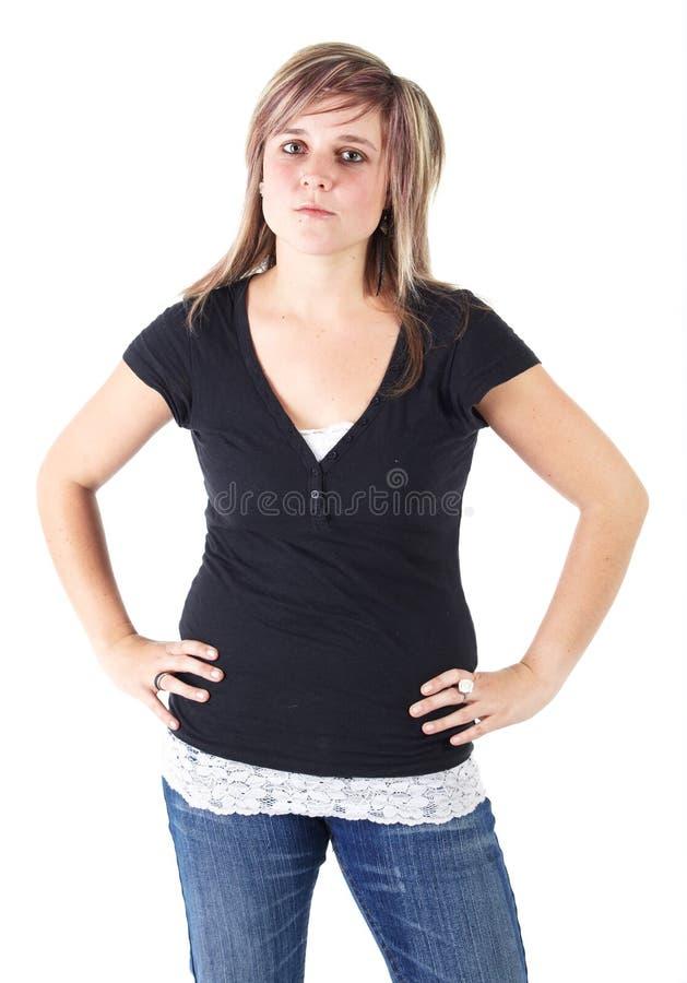 Jonge volwassen vrouw stock foto's