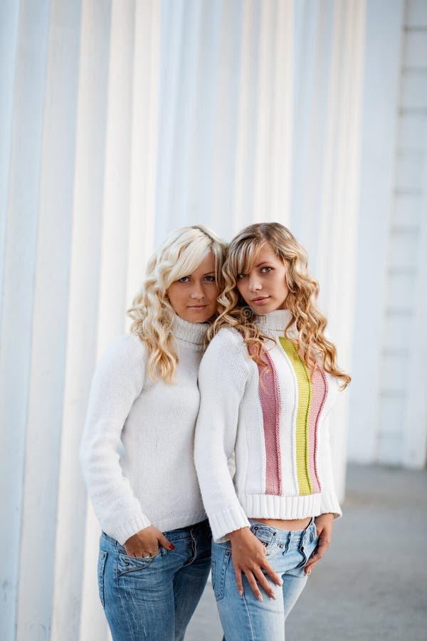 Jonge volwassen zusters stock foto