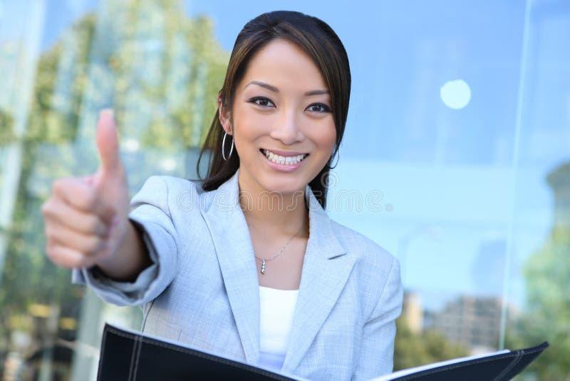 Jonge vrij Aziatische BedrijfsVrouw stock foto