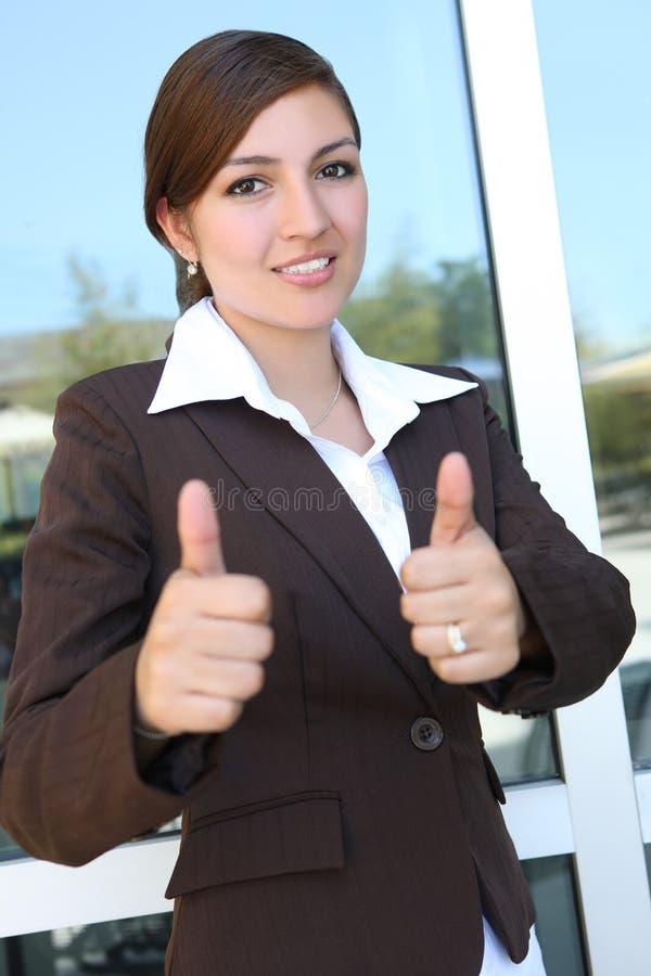 Jonge vrij Spaanse BedrijfsVrouw stock afbeelding