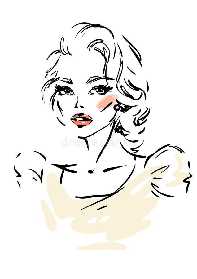 Jonge Vrouw 15 vector illustratie