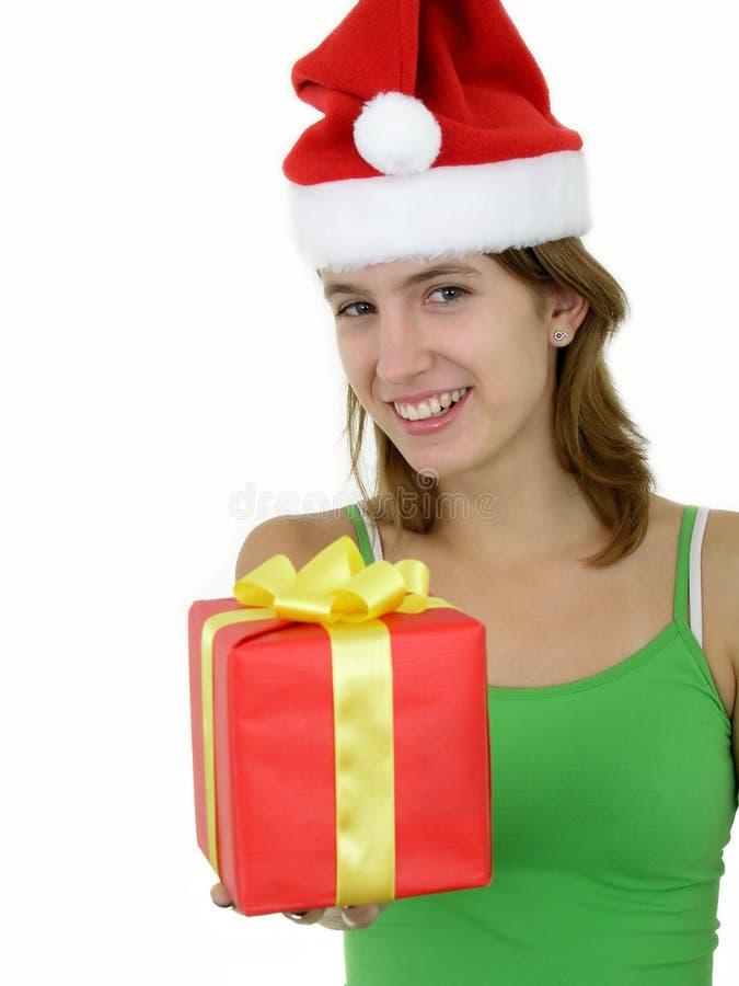 Download Jonge Vrouw Die Heden Aanbiedt Stock Foto - Afbeelding bestaande uit claus, giften: 291692