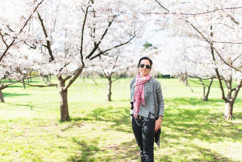 Jonge vrouw in een park royalty-vrije stock fotografie