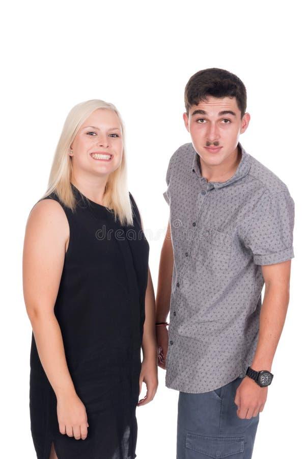 Jonge vrouw en man stock foto
