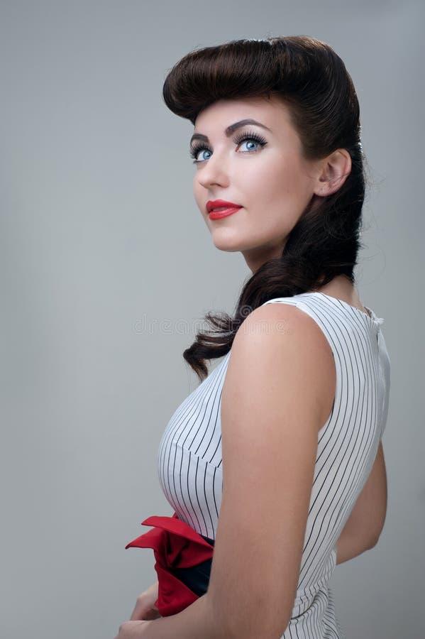 Jonge vrouw, het retro stileren royalty-vrije stock foto's