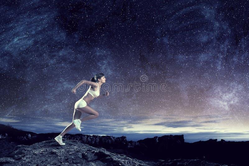 Jonge vrouw jogger royalty-vrije stock afbeelding
