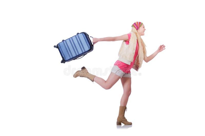 Jonge vrouw klaar voor de zomervakantie