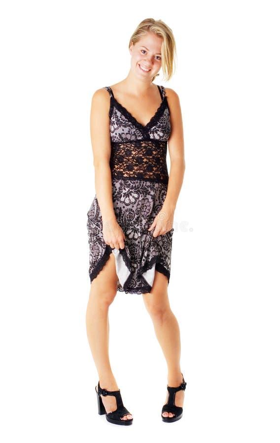 Download Jonge Vrouw In Kleding Op Wit Stock Afbeelding - Afbeelding bestaande uit achtergrond, aantrekkingskracht: 10783457