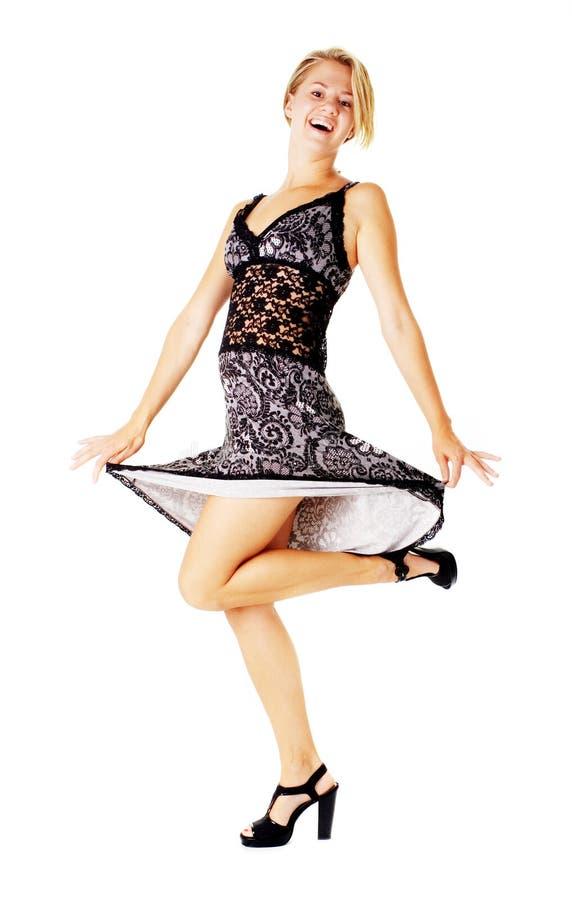 Download Jonge Vrouw In Kleding Op Wit Stock Foto - Afbeelding bestaande uit gelukkig, modieus: 10783460