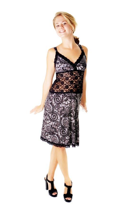 Download Jonge Vrouw In Kleding Op Wit Stock Afbeelding - Afbeelding bestaande uit heet, luxe: 10783469