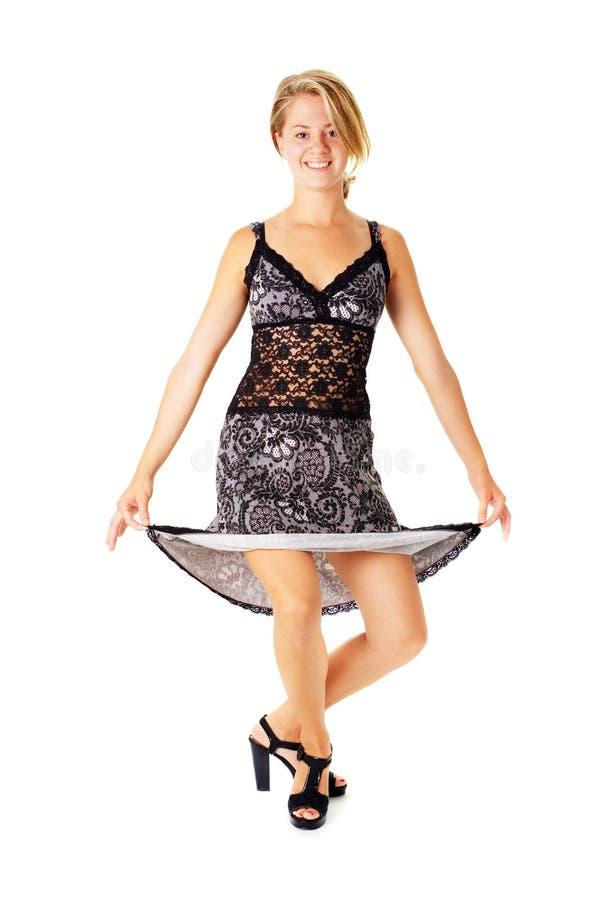 Download Jonge Vrouw In Kleding Op Wit Stock Afbeelding - Afbeelding bestaande uit menselijk, wijfje: 10783495