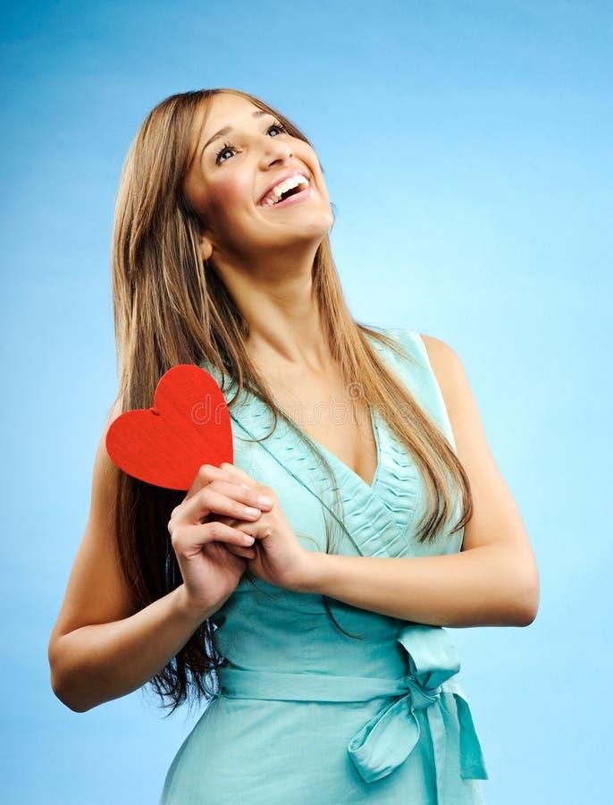 Jonge vrouw in liefde royalty-vrije stock fotografie