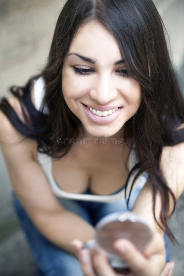 Jonge vrouw, manier, samenstelling stock foto's