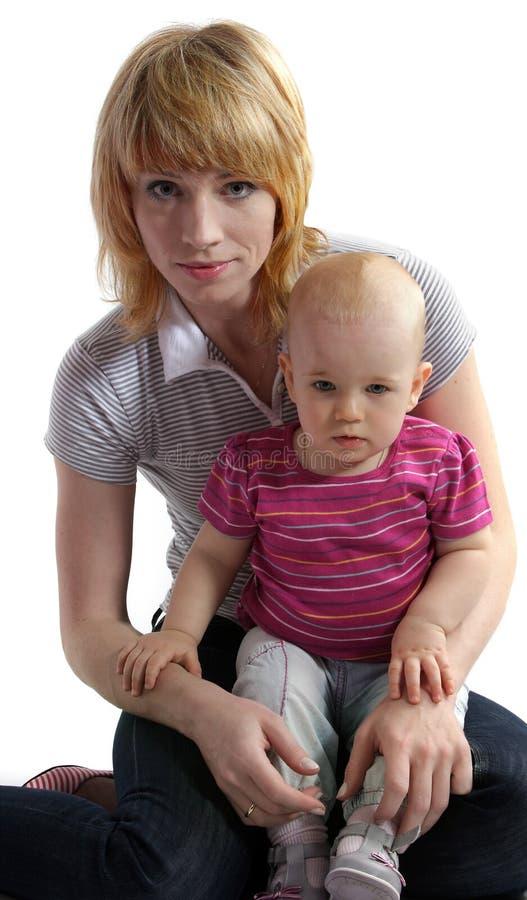 Jonge vrouw met een kind royalty-vrije stock fotografie