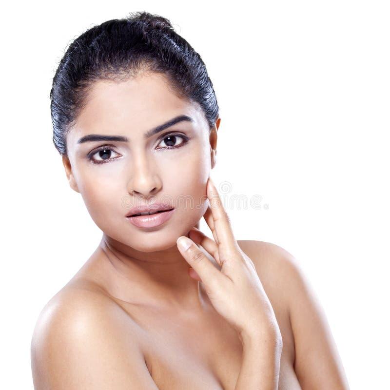 Jonge vrouw met gezonde huid royalty-vrije stock foto