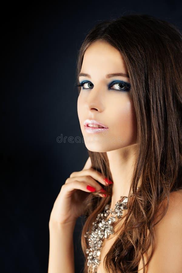 Jonge vrouw met make-up royalty-vrije stock fotografie
