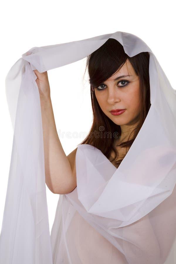 Jonge vrouw met sluier royalty-vrije stock fotografie