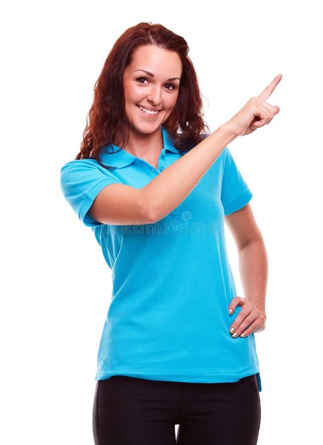 Jonge vrouw in polooverhemd royalty-vrije stock foto