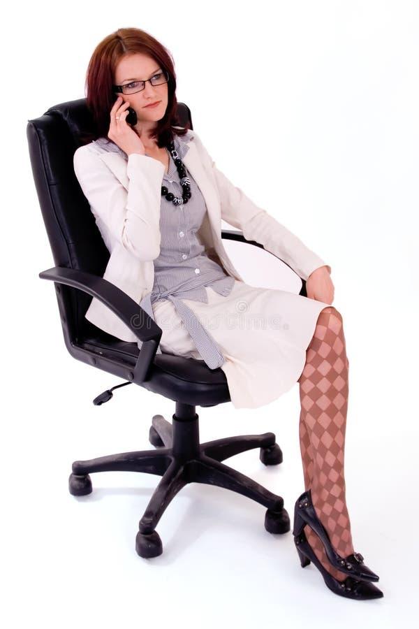 Jonge vrouwelijke bedrijfsleider royalty-vrije stock foto's