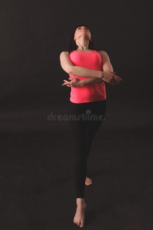 Jonge vrouwelijke het dansen jazz royalty-vrije stock fotografie