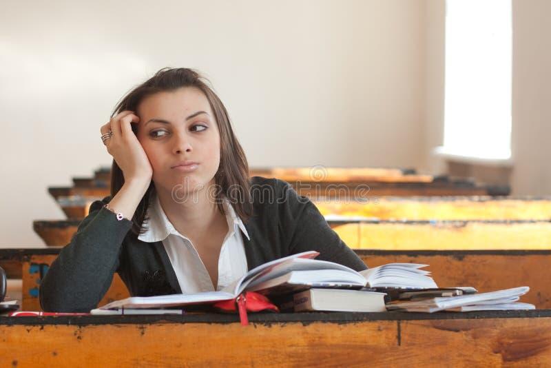 Jonge vrouwelijke student stock foto's