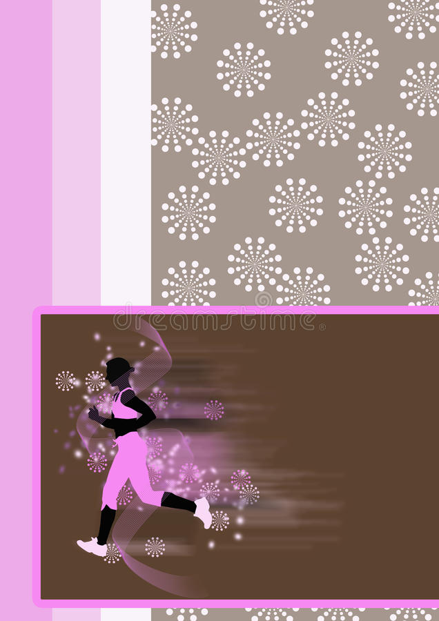 Jonge vrouwen lopende achtergrond vector illustratie
