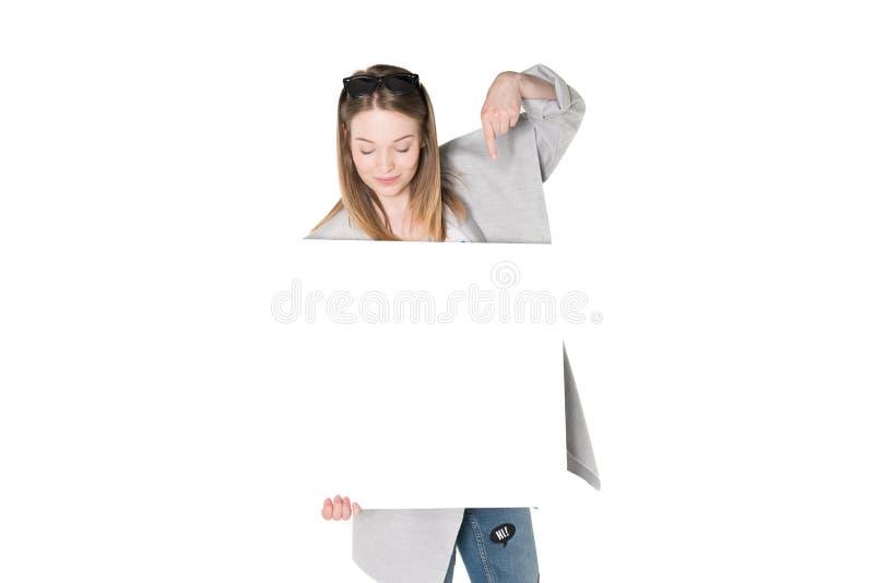 Jonge vrouwen met reclame stock foto's