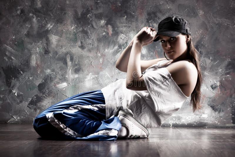 Jonge vrouwendanser royalty-vrije stock afbeeldingen