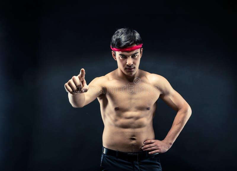 Jonge worstelaar stock fotografie