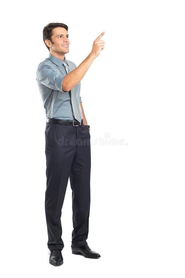 Jonge Zakenman Pointing stock fotografie