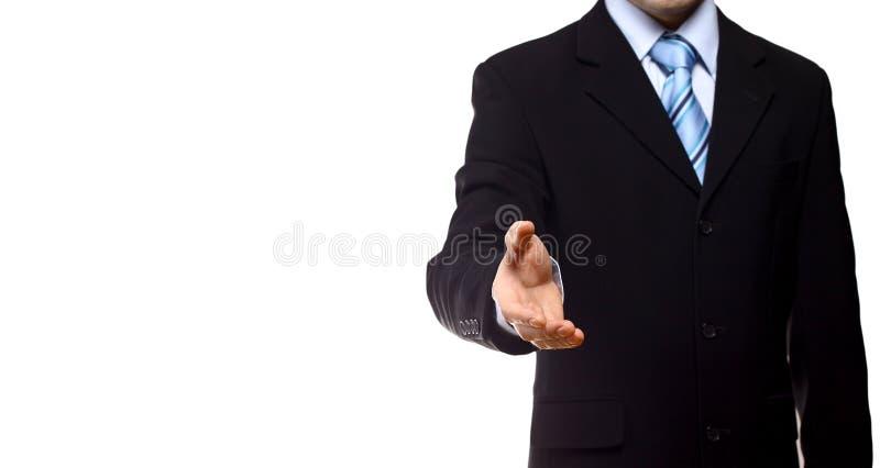 Jonge zakenmangroet stock fotografie
