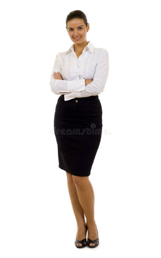 Jonge zekere bedrijfsvrouw royalty-vrije stock afbeelding