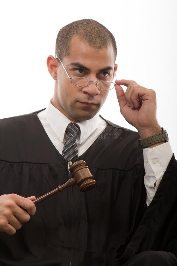 Jonge zwarte Afrikaanse Amerikaanse rechter royalty-vrije stock foto