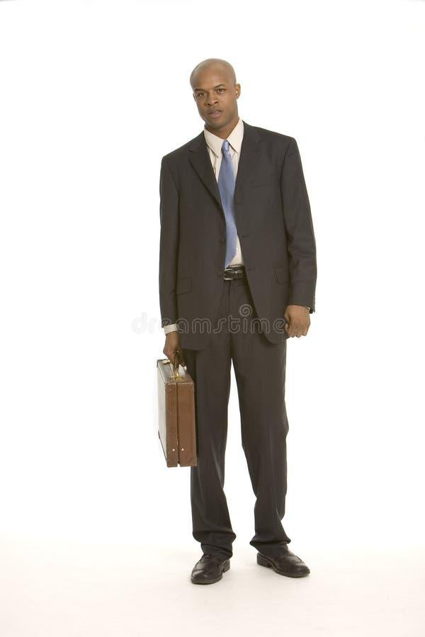Jonge zwarte bedrijfsmens stock foto