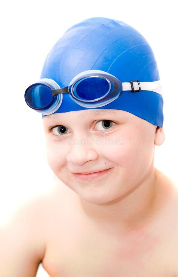 Jonge zwemmer. stock foto