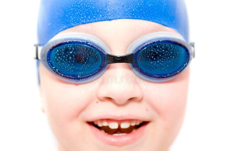 Jonge zwemmer. royalty-vrije stock afbeeldingen