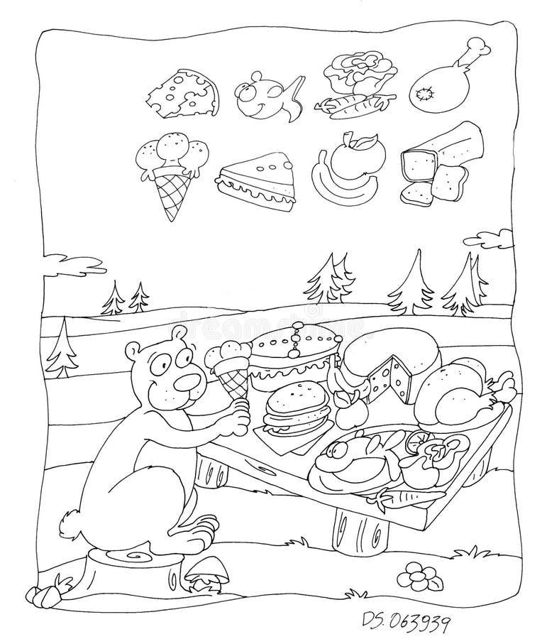 Jongelui draagt etend in de parkruggegraat die voor jonge geitjes kleuren vector illustratie