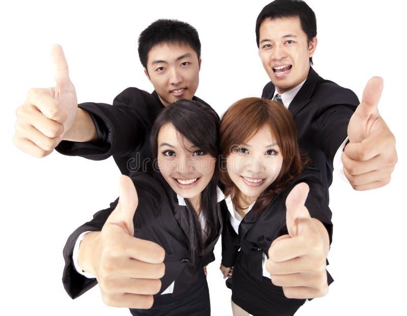 Jongelui en succes commercieel team stock foto