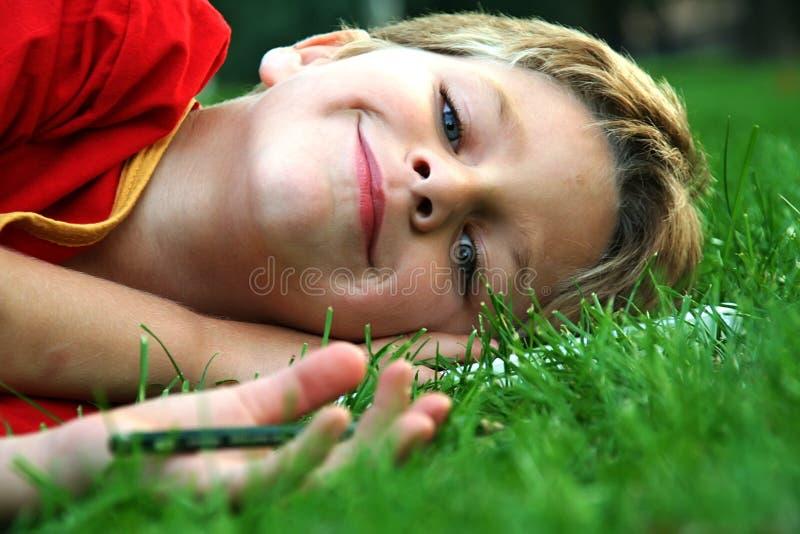Jongen stock foto