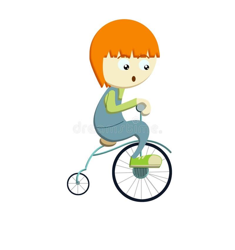 Jongen die bicyle berijdt
