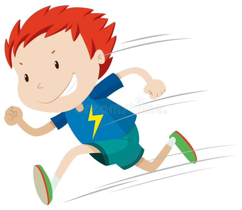 Jongen die zeer snel loopt vector illustratie